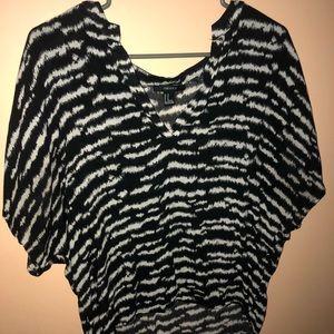 Forever 21 Zebra Blouse